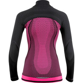 UYN Running Alpha OW T-shirt Manches longues Zip Femme, racy pink/charcoal